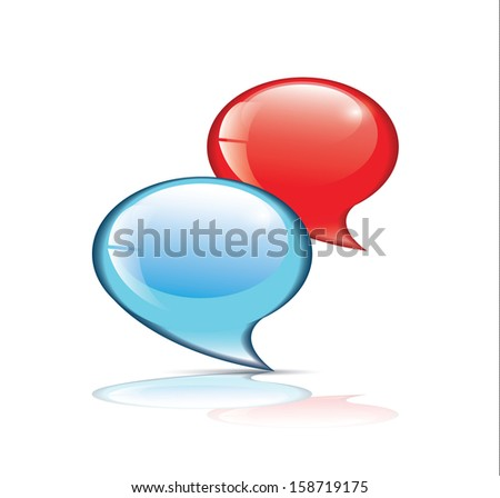 Comments Icon - stock vector
