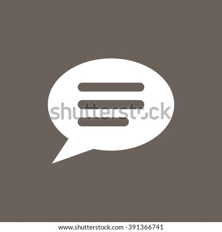 Comments or Speech bubble Icon on Dark Gray Color. Eps-10. - stock vector