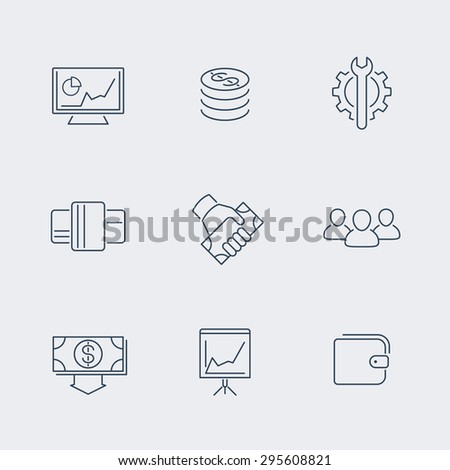 commerce, finance, payments line icons, vector illustration, eps10, easy to edit - stock vector
