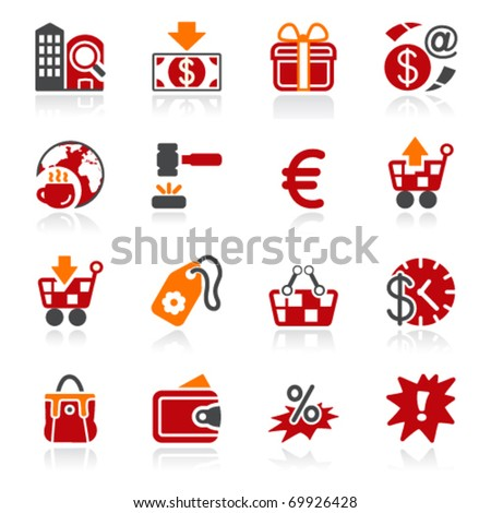 Commerce icons. Color series. - stock vector