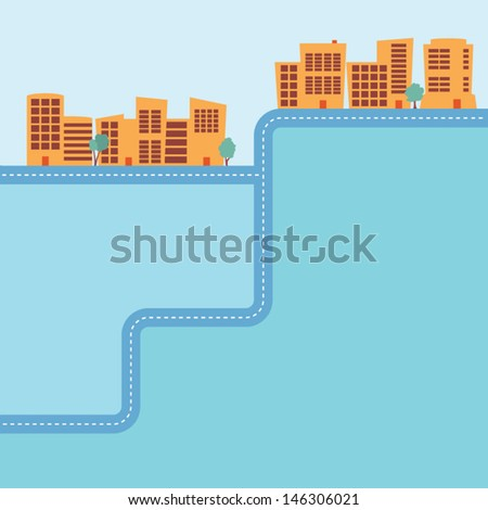 Commercial building background with space for type - stock vector