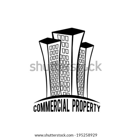 commercial property illustration - stock vector