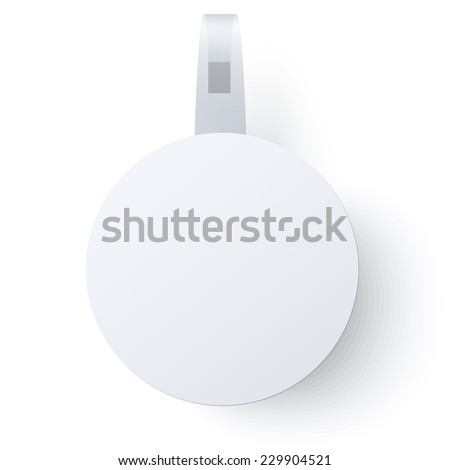 Commercial round paper wobbler with transparent strip isolated on a white background - stock vector