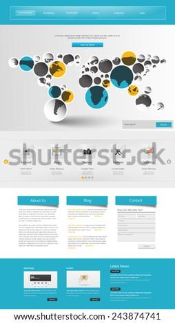 Commerical Website Template Design,  - stock vector
