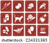 Common allergies icons, Ideal for menus, lunchrooms and schools - stock vector