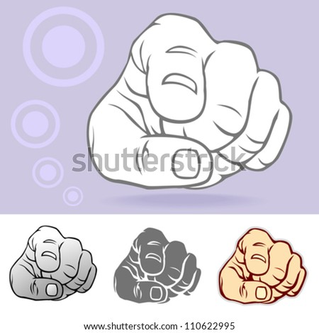 Commonly used Hand Gesture - stock vector