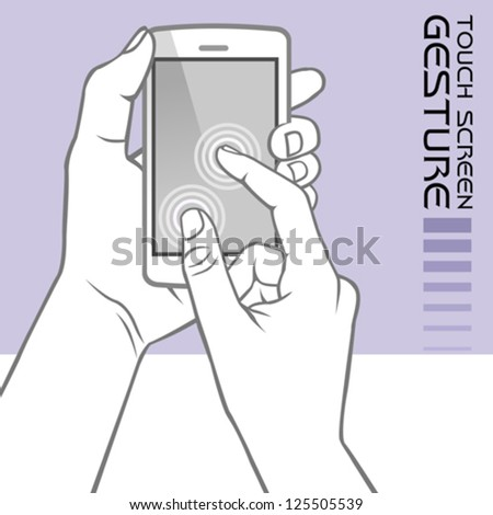 Commonly Used Touch Screen Gestures on Mobile Phone : Pinch