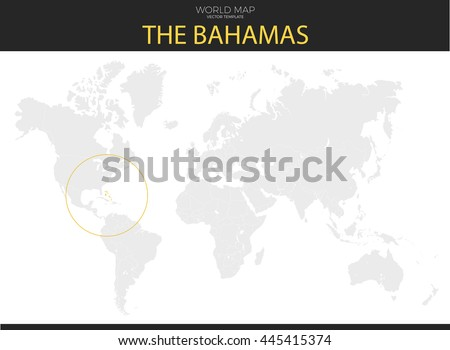 Commonwealth Bahamas Location Modern Detailed Vector Stock Vector