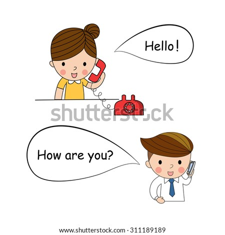 communication and created conversation study decorated vector illustration - stock vector