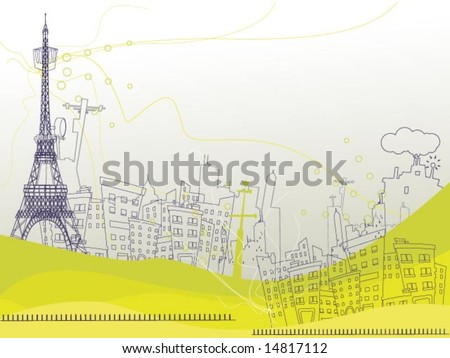 Communication Background - Vector - stock vector