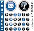 communication buttons. vector - stock photo