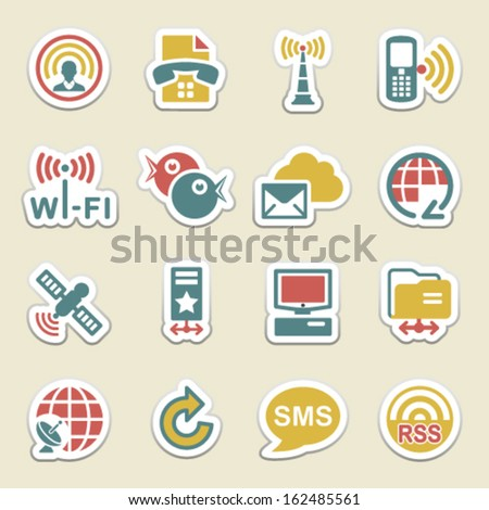 Communication color icons. - stock vector