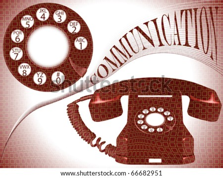 communication composition, abstract vector art illustration - stock vector
