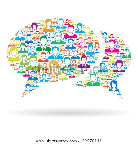 Communication concept - stock vector