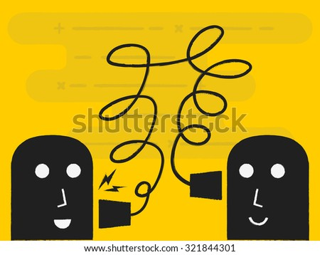 communication concept - stock vector