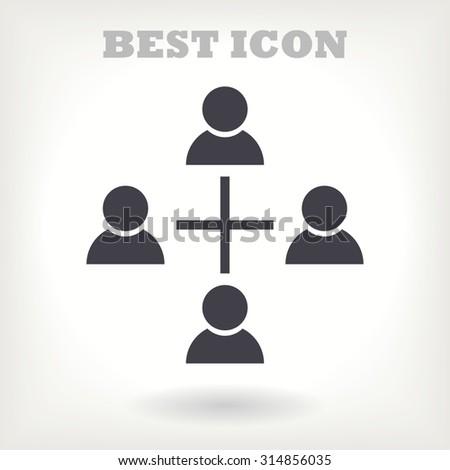 communication concept. connection. icon. Vector - stock vector