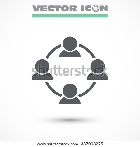 Communication concept connection icon. Vector Eps 10. - stock vector