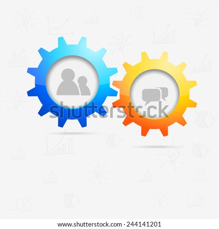 Communication concept - vector illustration - stock vector