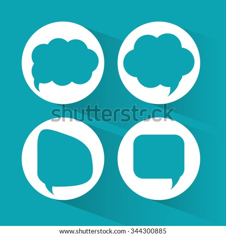 Communication concept with bubbles chat design, vector illustration 10 eps graphic.