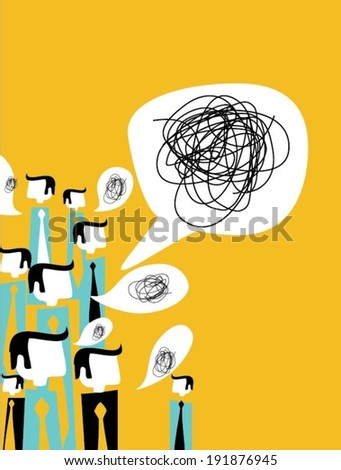 Communication concept with speech bubbles - stock vector