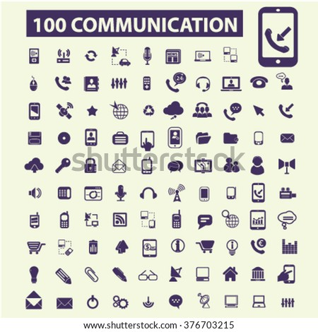Communication, connect, talking, connection, technology, mobile icons
