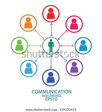 communication. connection. vector Illustration.