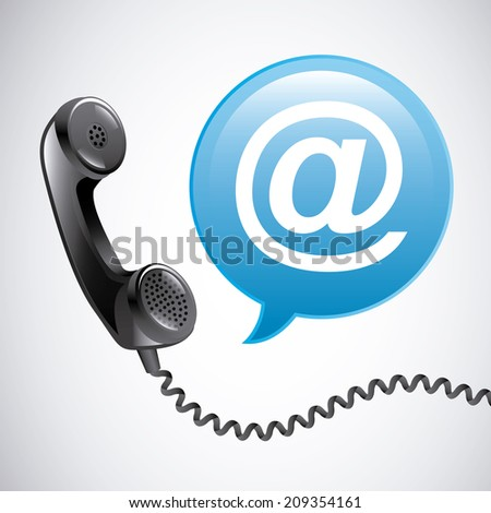 communication design over gray background vector illustration