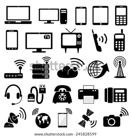 Communication device  icons.vector - stock vector