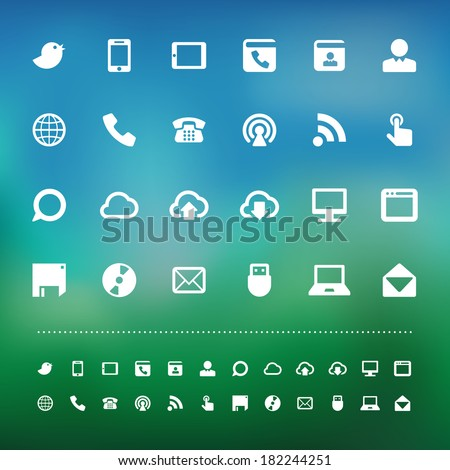 communication icon set .Illustration eps10 - stock vector