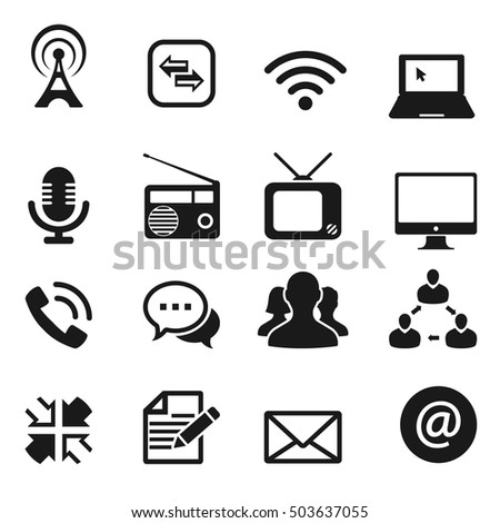 communication icon, vector
