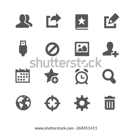 Communication Icons // Apps Interface - stock vector