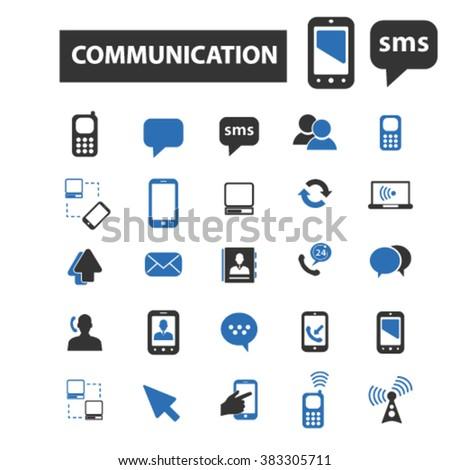 communication icons, communication logo, communication vector, communication flat illustration concept, communication infographics, communication symbols,   - stock vector