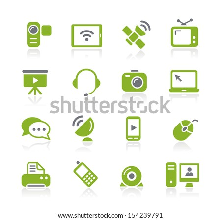 Communication Icons // Natura Series - stock vector
