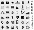 communication icons. Network and mobile devices. Network connections - stock photo