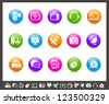 Communication Icons // Rainbow Series - stock vector