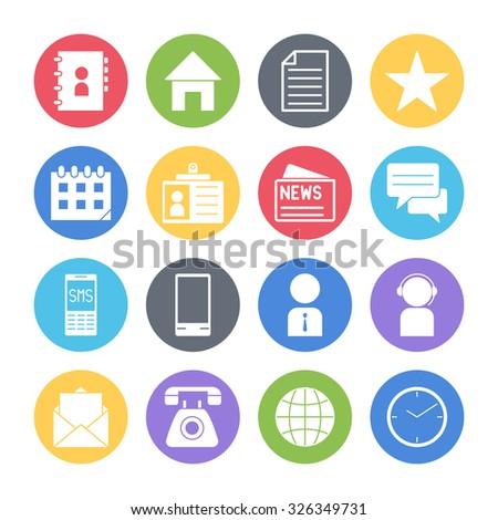 communication icons set - stock vector
