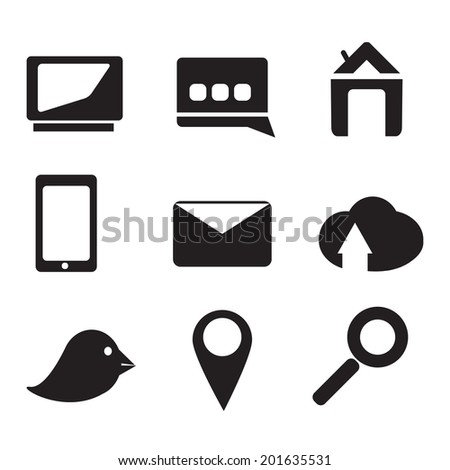 Communication icons set for business - stock vector