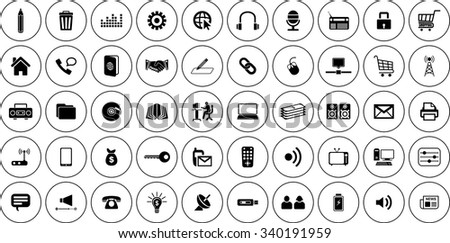 Communication Icons Set Vector Format. Eps-10 . - stock vector