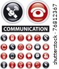 communication icons, signs, vector illustrations - stock vector
