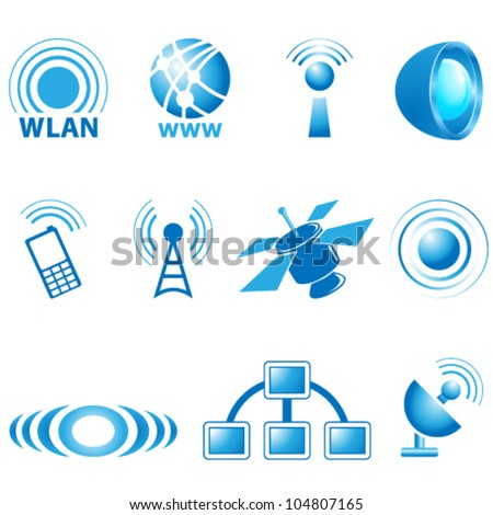 communication icons - vector illustration - stock vector
