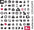 Communication icons. Web icons set. Internet icons collection. - stock vector