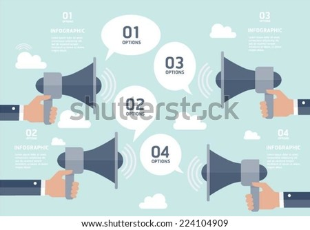 Communication infographic elements - stock vector