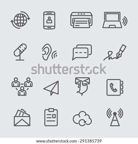 Communication line icon - stock vector