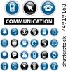 communication & network buttons & signs, vector - stock vector