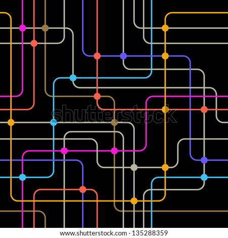Communication network. Seamless vector background. - stock vector