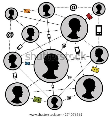 Communication networks vector illustration - stock vector