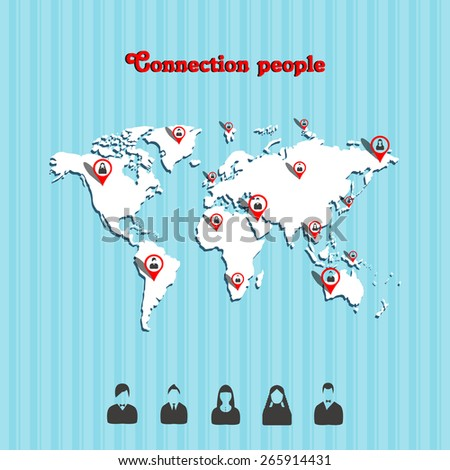 communication people - stock vector