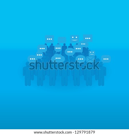 communication. people with talk bubbles. eps10 - stock vector