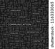 COMMUNICATION. Seamless vector pattern. Word collage. Vector illustration. - stock vector