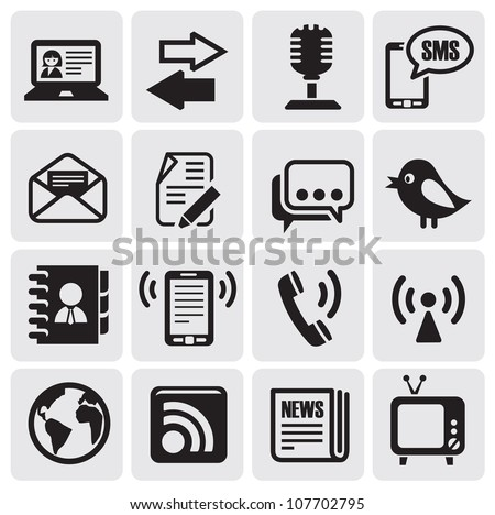 communication set - stock vector